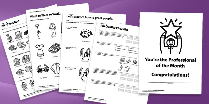 Printables Job Readiness Worksheets i can work a skills curriculum for special needs programs pdfs worksheets